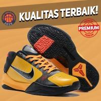 Sepatu Basket Sneakers Nike Kobe 5 Protro Bruce Lee Yellow Orange