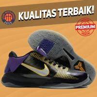 Sepatu Basket Sneakers Nike Kobe 5 Protro Black Purple Playoff