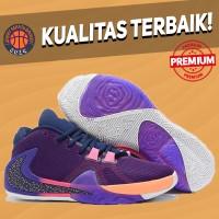 Sepatu Basket Sneakers Nike Zoom Greek Freak 1 NBA 2K Purple Orange