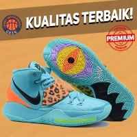 Sepatu Basket Sneakers Nike Kyrie 6 Blue Oracle Aqua Pria Wanita