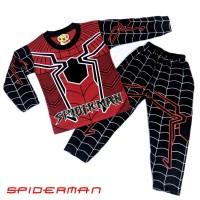 Baju Tidur Anak Piyama Anak Motif Spiderman Merah 0 - 10th