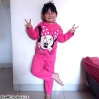 Baju Tidur Anak Motif MINNIE MOUSE Piyama Anak Wanita MARUNO 0 - 10Th