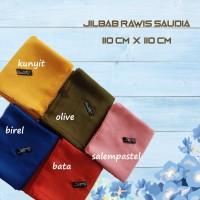 Jilbab Segi Empat Katun Rawis Saudia - olive