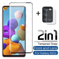 Tempered Glass Samsung A21S 2020 + Anti Gores Lensa Camera Full Layar