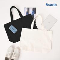 Tote bag Kanvas Besar Polos ( Shopping bag / Tas Belanja ) Premium