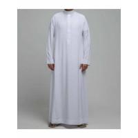 GAMIS JUBAH SAUDI model Haramain / gamis pria ikhwan saudi putih warna