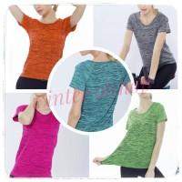 Baju Atasan Senam Sport Zumba Yoga Gym Wanita / Tees Olahraga Cewek