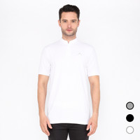 Kaos Polo Shirt Pria Kerah Shanghai Koko Putih Lacost Kasual Baju Laki