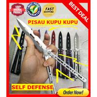 Pisau survival balisong - pisau lipat - folding knife self defense