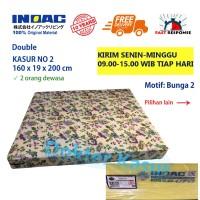 Kasur INOAC 200x160x20cm uk no 2 Busa Super Bergaransi Anti Kempes - batik, 160x20