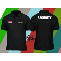 Kaos Polo Shirt Obral Baju Kerah SECURiTY KEAMANAN + iNDONESiA polos