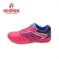 Ardiles Men Maitland Sepatu Badminton - Merah Biru