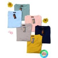 dnb - Baju Atasan Kaos POLOS Baby Terry Wanita - Biru