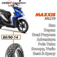 Maxxis M6239 80/90-14 Ban Depan Tahu Beat Spacy Scoopy Vario 125 150