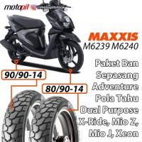 Maxxis Ban Tahu Dual Purpose Depan Belakang X Ride Mio J Fino Soul GT