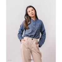 Yoorafashion Plaid Zarra Long Sleeve Shirt Kemeja Kotak Wanita BL1229