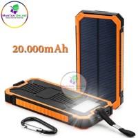 Lampu Emergency/ Solar Panel / Power Bank Tenaga Surya 20.000mAh 2 USB
