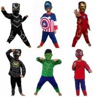 kostum baju anak captain america spiderman iron man spiderman panther