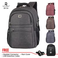 Tas Ransel Sekolah Backpack Kerja Polo Trands 36134 Original Quality
