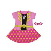 Kostum Anak Cewek Karakter Superhero Power Rangers Pink Dress Baju - 4