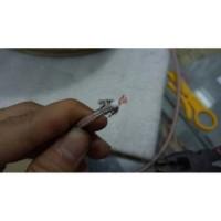 Kabel coaxial Cable Antena HT RG 58 Teflon transparan serabut RG-58