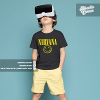 Kaos Anak Nirvana - Kaos Band Nirvana - Kaos Anak Logo Band Nirvana