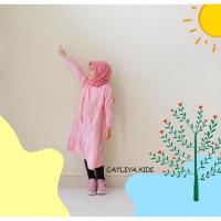 Baju Tunik Casual Anak Perempuan Alisha Series polos warna Pink