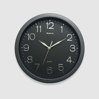 Jam Dinding Rolens Diameter 32 CM - Top Chrome Silver - BEST SELLER - Hitam