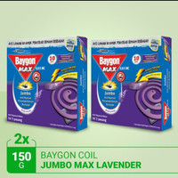 Baygon lavender coil /bakar 150 gr /obat nyamuk lavender murah (2 pcs)