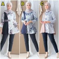 Blouse Batik Kantoran Sogan | Baju batik Atasan Kerja Wanita