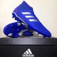 Sepatu Bola Adidas Predator 19.3 FG Bold Blue Silver BB8112 Original