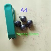 Timah Pemberat Pancing Anting Size 4 5 6 Ecer / Bandul Pancing