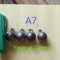 Timah Pemberat Pancing / Bandul Pancing Anting Size Besar 7 8