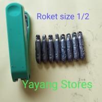 Timah Pemberat Pancing / Bandul Pancing model Roket Jantung size kecil
