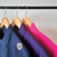 Kaos Polo Shirt Kerah Navy Dongker-Ungu Tua-Fanta, uk S,M,L,XL,XXL,3XL