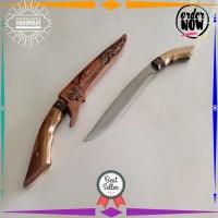 TERLARIS Golok Sembelih Badik Sembelih Baja Per 177 handmade