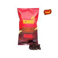 SCHOKO Dark Chocolate Couverture 72% Cube 1 Kg / CUBE / Packing 1 Kg