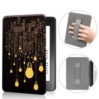 Art lighting kindle paperwhite 10th gen smart case with strap casing