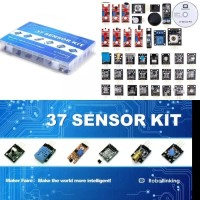 High Quality Sensor Kit 37 in 1 Box + CD Tutorial for Arduino