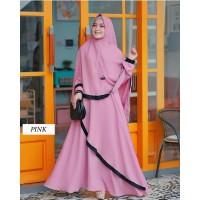 Marinka Syari / Baju Gamis Plus Hijab / Dress Wanita Muslimah /
