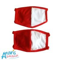 Amaris Masker Kain Non Medis 3 Lapis Motif Merah Putih