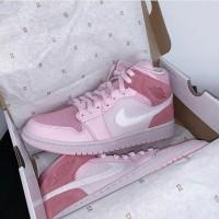 Sepatu Basket Nike Air Jordan 1 Mid Digital Pink Premium Quality