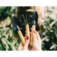 peralatan alat berkebun sekop garu mini 3 in 1 garden tools