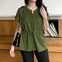 BLOUSE DORA TOP ARMY [Baju Atasan Wanita 0103] TGG