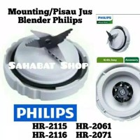 Pisau blender PHILIPS diva mounting jus / jar Hr 2115 2116 HR 2061 207