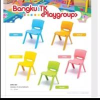 Bangku Anak TK Playgroup Kursi Plastik Belajar Makan Main Multiwarna