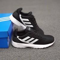 Sepatu Adidas Cloudfoam climacool Black white 39-43