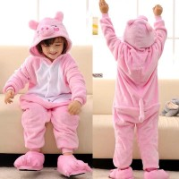 KOSTUM ONESIE PIG BABI PIGGY COSPLAY PIYAMA ANAK