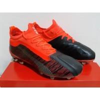 Sepatu Bola - Soccer Puma One 5.1 Leather Black Energy Red - FG