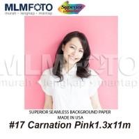 Background Kertas Foto 1.3x11M Paper Studio Polos 17 Carnation Pink